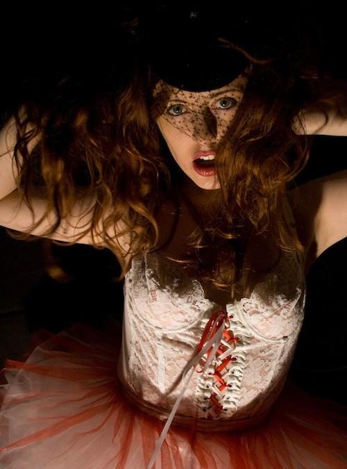 Modelling the Orgasm Dress – Venus O'Hara